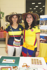 Sharing their Colombian culture!